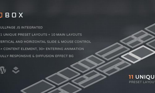QBOX - FullPage Fullscreen Respons...