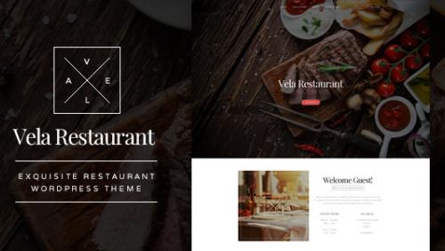 Vela - Exquisite Restaurant WordPress Theme