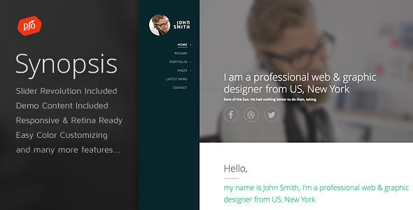 Synopsis - Resume/CV and Portfolio Theme