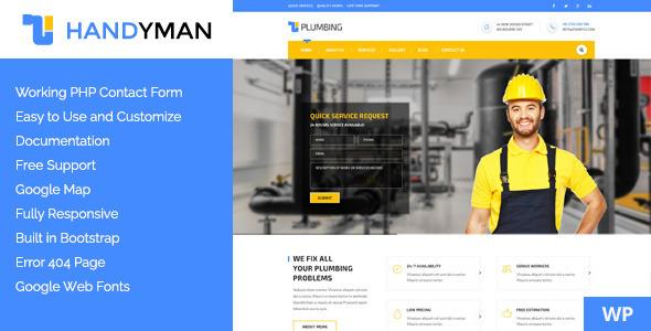 Handyman - Responsive WordPress Theme