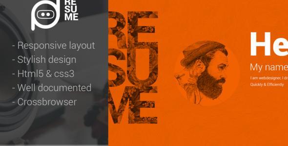 Resume - One-Page Creative CV WP Theme