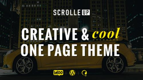 ScrolleUP - Creative One Page WordPress Theme