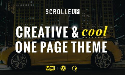 ScrolleUP - Creative One Page Word...