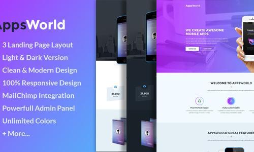 AppsWorld - Responsive App Landing...
