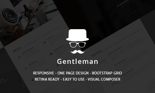 Gentleman - CV & Resume vCard Word...
