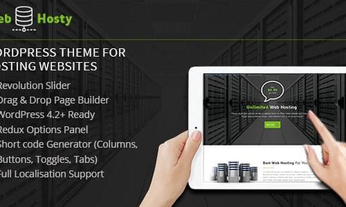 WebHosty - Hosting Wordpress Theme