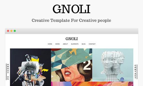 Portfolio Wordpress Theme - Gnoli