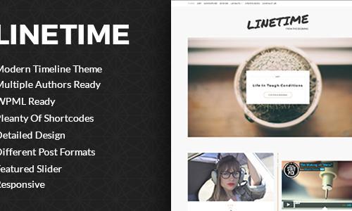 LineTime   Modern Timeline Wordpre...