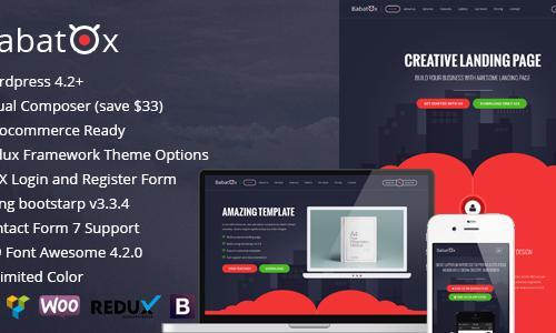 Babatox - Responsive Landing Page ...