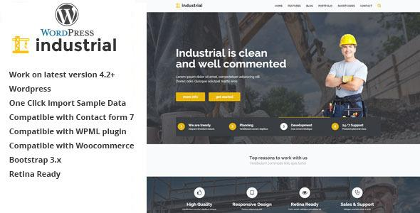 Industrial - Construction & Industry WP Theme