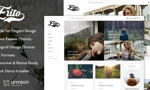 Erito - Clean Responsive Blog Word...