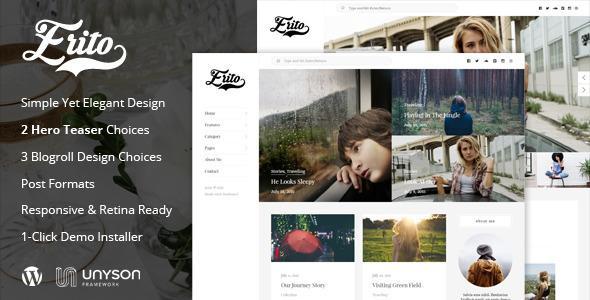 Erito - Clean Responsive Blog WordPress Theme