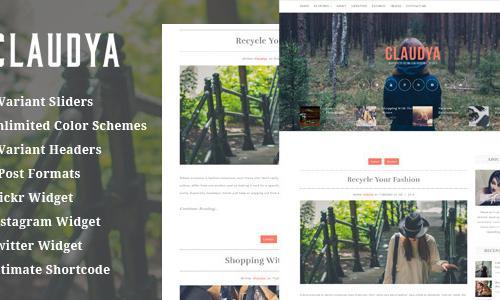 Claudya - Clean Personal Blog Them...