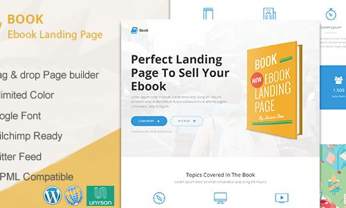 Book - Responsive Ebook Landing Pa...
