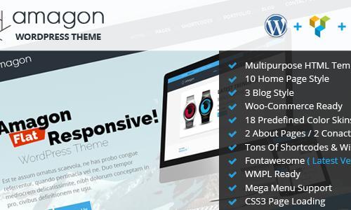 Amagon Bootstrap Flat Multipurpose...