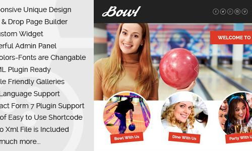 Bowl - Responsive Bowling Center W...