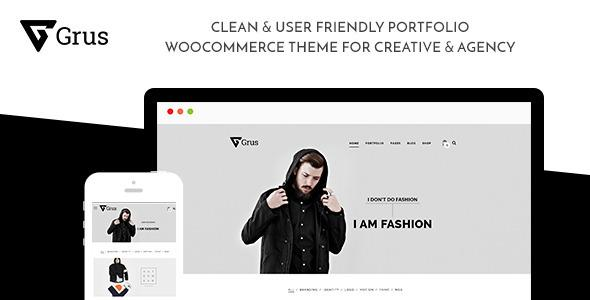 Grus Portfolio WooCommerce for Freelancer & Agency
